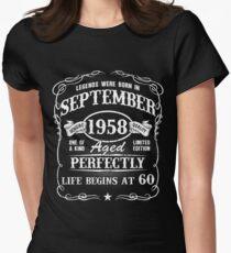 Camiseta entallada para mujer Nacido en septiembre de 1958, las leyendas nacieron en septiembre de 1958