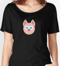 Super Adorable Cartoon Pig Design Women's Relaxed Fit T-Shirt