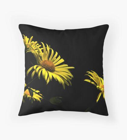 Yellow On Black...Variation Throw Pillow