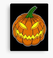 Spooky Pumpkin Canvas Print