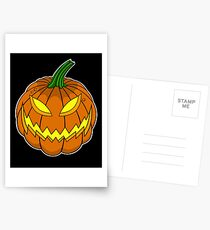 Spooky Pumpkin Postcards