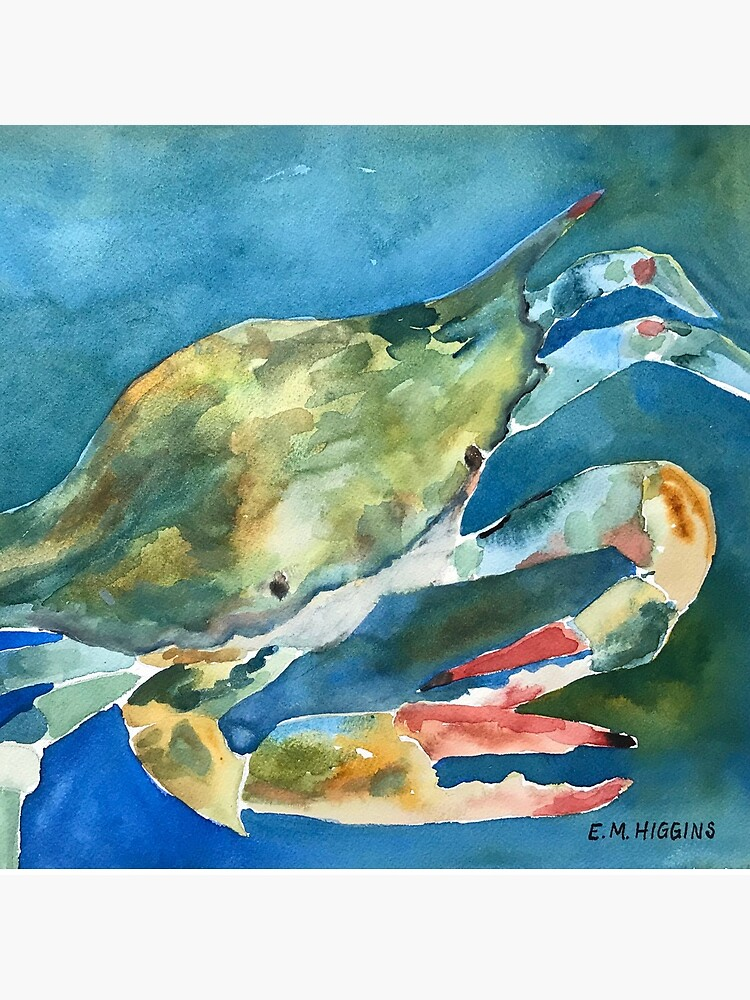 Blue Crab by WaterColorWheel