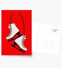 Eiskunstlauf-Skates Postkarten