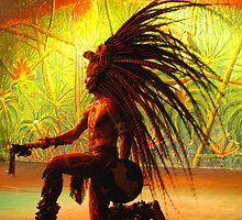 Mayan warrior by Heath Dreger