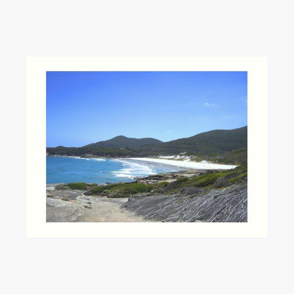 Squeaky Beach Art Print