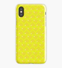 Seamless Pattern of Yellow Pixel Hearts (7x6) iPhone Case/Skin