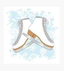 Ice skates Photographic Print