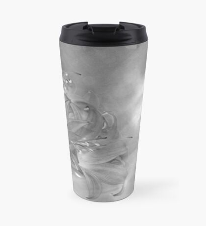 The Dragonfly and the Flower Travel Mug