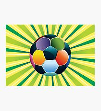 Soccer Ball on Green Background 3 Photographic Print