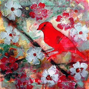 Red Bird Singing by BillyLee