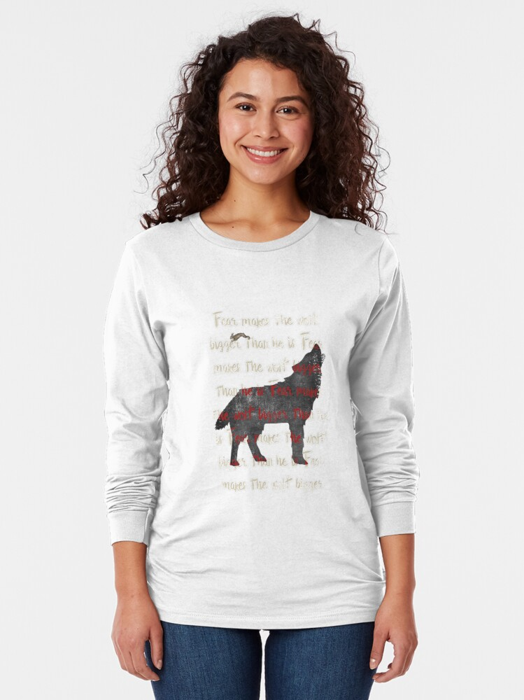 Alternate view of Fear the wolf Long Sleeve T-Shirt
