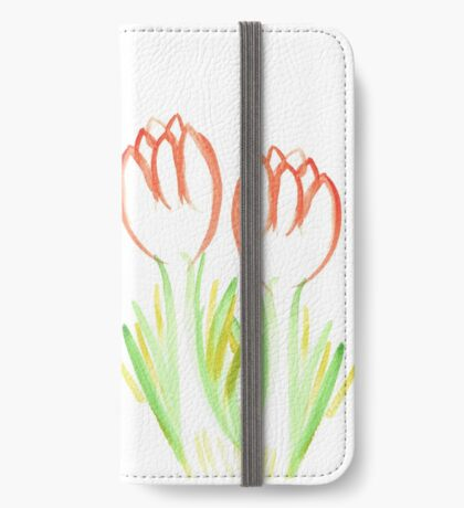 Pretty Beach Flowers iPhone Wallet