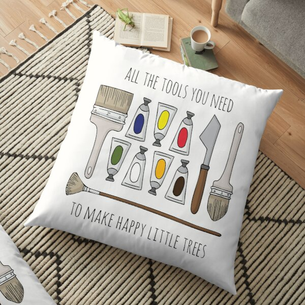 All The Tools You Need To Make Happy Little Trees Floor Pillow