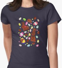 Easter Egg Bounty - Navy Women's Fitted T-Shirt