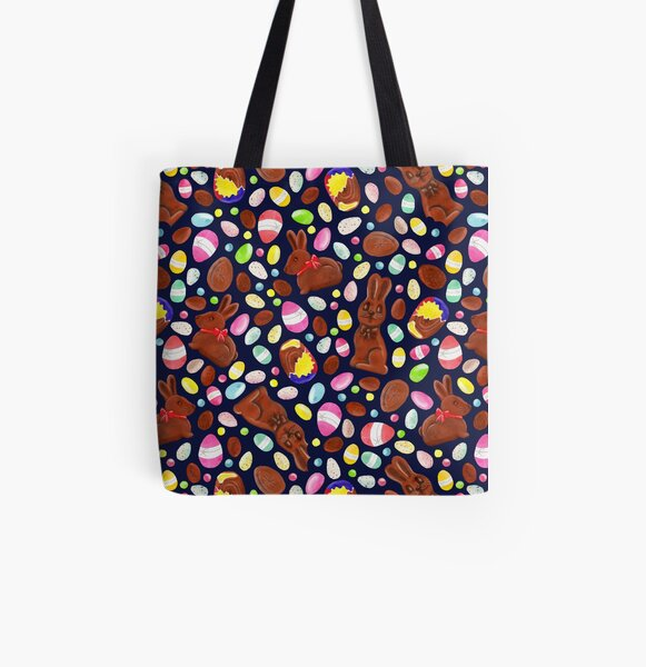 Easter Egg Bounty - Navy All Over Print Tote Bag
