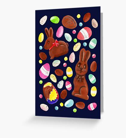 Easter Egg Bounty - Navy Greeting Card