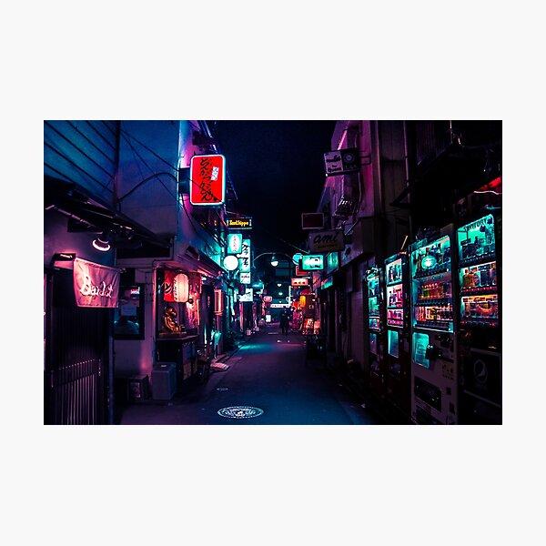 Late Night in Shinjuku's Golden Gai Photographic Print