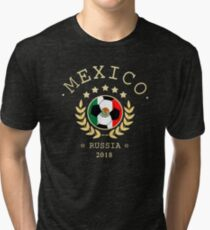 Mexico Mexican Soccer Team Russia 2018 T Shirt Football Fan copa mundial  Tri-blend T-Shirt