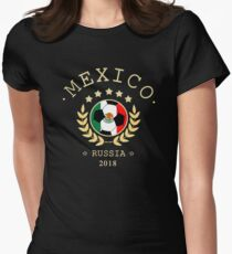 Mexico Mexican Soccer Team Russia 2018 T Shirt Football Fan copa mundial  Women's Fitted T-Shirt