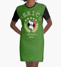 Mexico Mexican Soccer Team Russia 2018 T Shirt Football Fan copa mundial  Graphic T-Shirt Dress