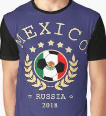 Mexico Mexican Soccer Team Russia 2018 T Shirt Football Fan copa mundial  Graphic T-Shirt