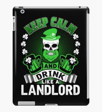 Keep Calm And Drink Like A Landlord St Patrick's Day iPad Case/Skin