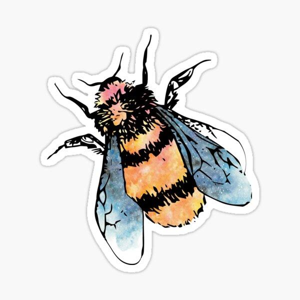 Cute Watercolour Bumble Bee Sticker