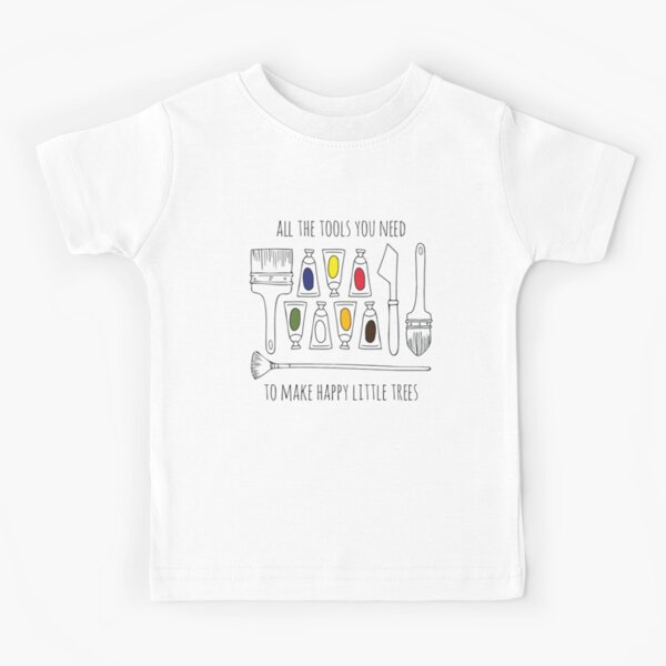 Happy Little Trees Bob Ross Art Inspired Funny Unisex T Shirt Top Tee