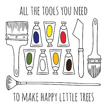 All The Tools You Need To Make Happy Little Trees Colour Pop by FontaineN