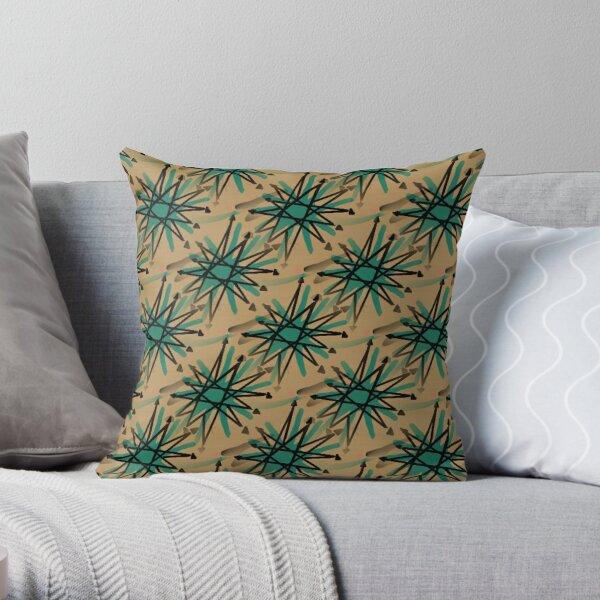 Retro Starburst Print Throw Pillow