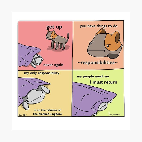 Blanket Kingdom - Tiny Snek Comics Photographic Print