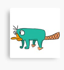perry the platypus drawing canvas prints redbubble