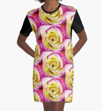 A Touch of Pink  Graphic T-Shirt Dress