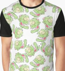 Watercolor Zombie Caricature Graphic T-Shirt