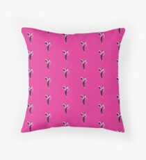 Fuchsia Flapper Throw Pillow