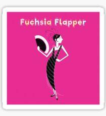 Fuchsia Flapper Sticker