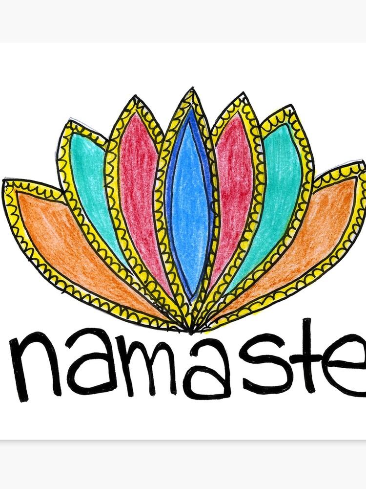 Namaste Lotus Flower Yoga Teacher Art Design Canvas Print By