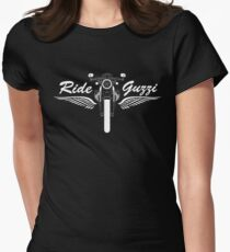 Moto Guzzi V7 Cafe Racer Front Women's Fitted T-Shirt