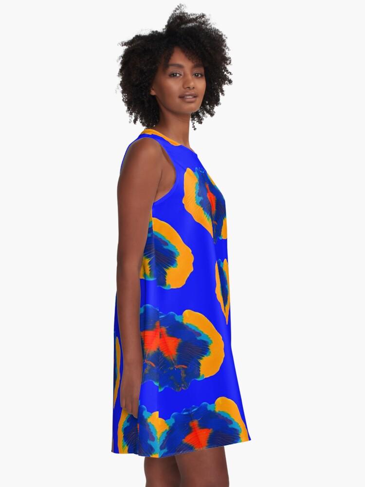 Alternative Ansicht von Tintenklecks Geist A-Linien Kleid