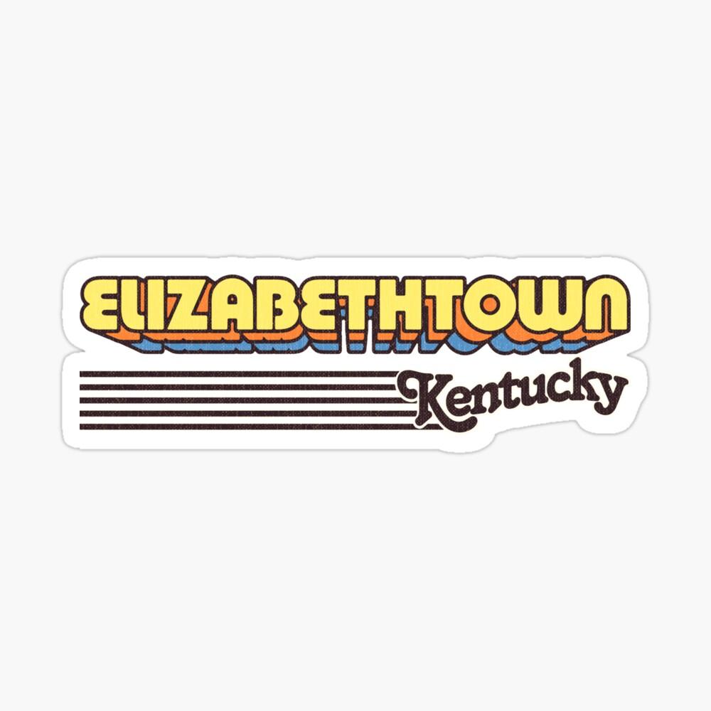 Elizabethtown, Kentucky | Retro Stripes Sticker