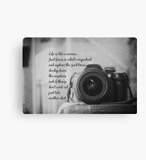 Life is Like a Camera Canvas Print