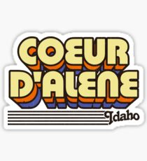 Coeur d'Alene, Idaho | Retro Stripes Sticker