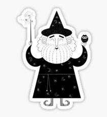 White Wizard Sticker
