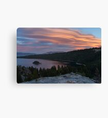 Cloud Show over Emerald Bay Canvas Print