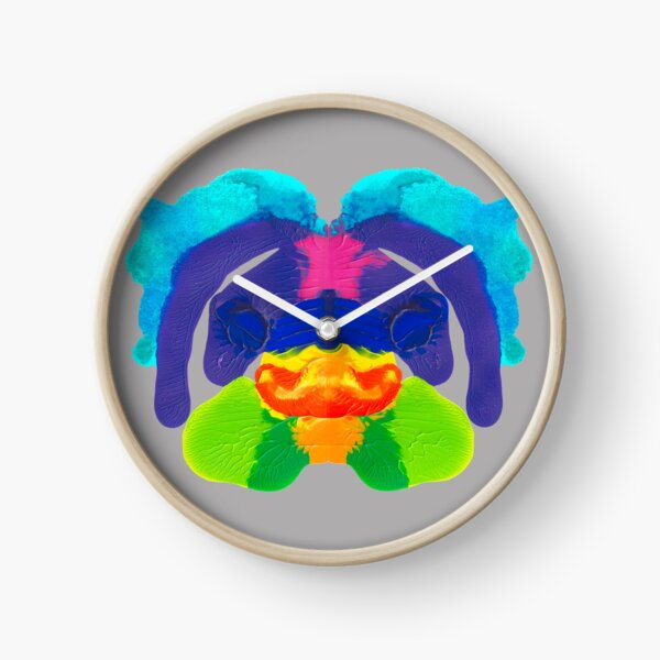 Tintenklecks Delphin Uhr