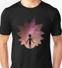Rick Sanchez Silhouette on Galaxy Unisex T-Shirt