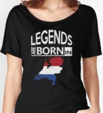 Legends born Netherlands Dutch Pride Birthday Women's Relaxed Fit T-Shirt