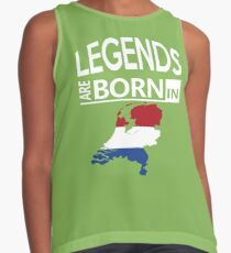 Legends born Netherlands Dutch Pride Birthday Contrast Tank