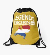 Legends born Netherlands Dutch Pride Birthday Drawstring Bag