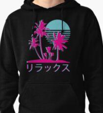 Vaporwave Aesthetic // Neon Palms Pullover Hoodie
